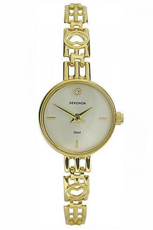 Image of            Ladies Sekonda 9ct Gold Watch 4648