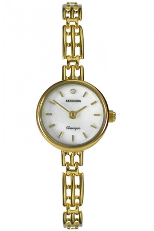 Image of            Ladies Sekonda 9ct Gold Watch 4698