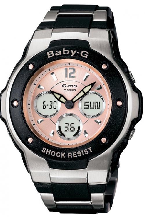 Image of            Ladies Casio Baby-G Alarm Chronograph Watch MSG-300C-1BER