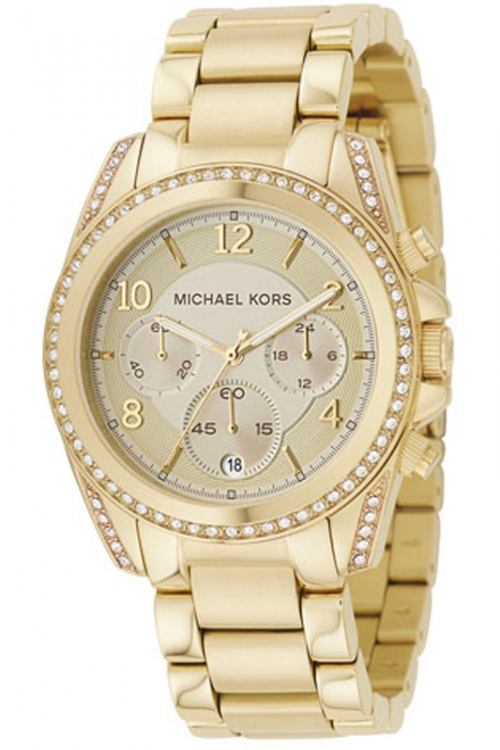 Image of  			   			  			   			  Ladies Michael Kors Blair Chronograph Watch MK5166
