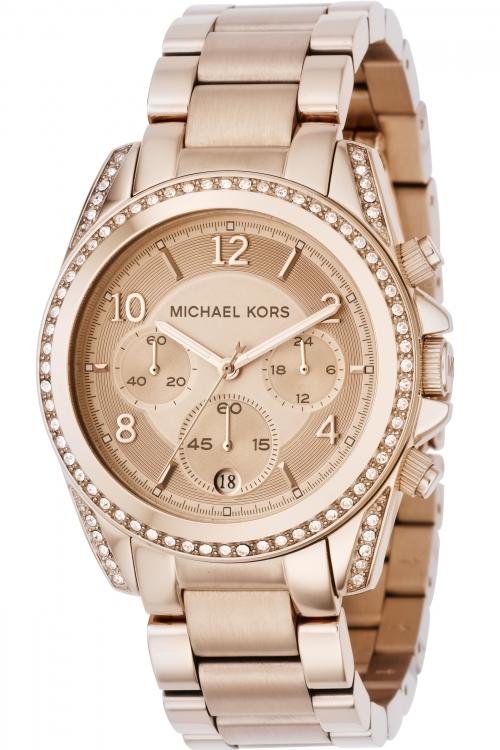 Image of            Ladies Michael Kors Blair Chronograph Watch MK5263