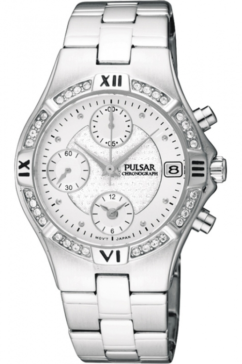 Image of  			   			  			   			  Ladies Pulsar Chronograph Watch PF8211X1
