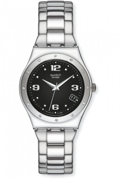 Image of            Ladies Swatch Her Tender Black Watch YLS433G