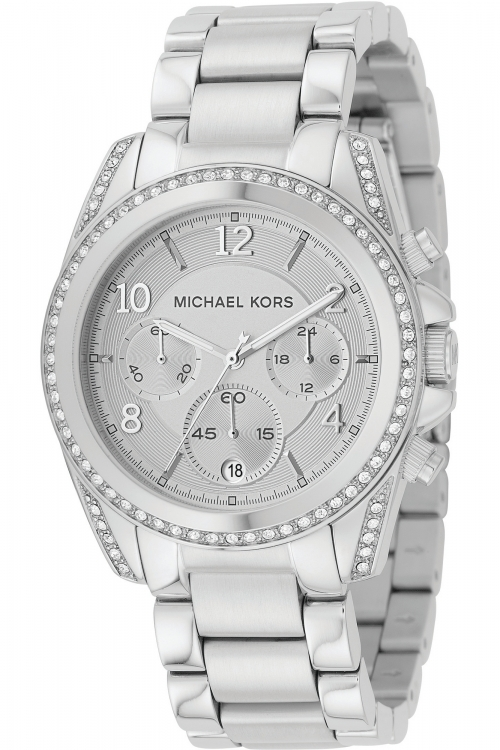 Image of  			   			  			   			  Ladies Michael Kors Blair Chronograph Watch MK5165