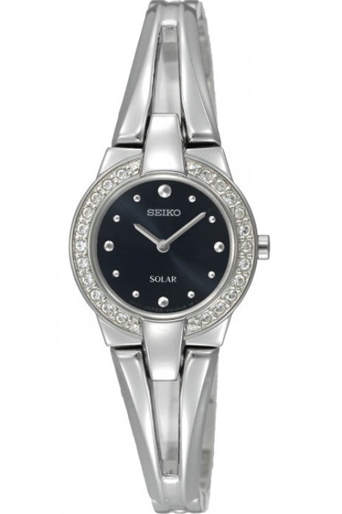 Image of  			   			  			   			  Ladies Seiko Crystal Solar Powered Watch SUP051P1