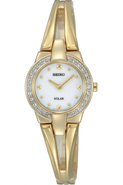 Image of  			   			  			   			  Ladies Seiko Crystal Solar Powered Watch SUP088P1