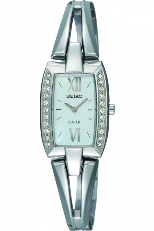 Image of  			   			  			   			  Ladies Seiko Crystal Solar Powered Watch SUP083P9