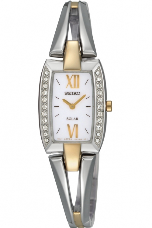 Image of  			   			  			   			  Ladies Seiko Crystal Solar Powered Watch SUP084P9