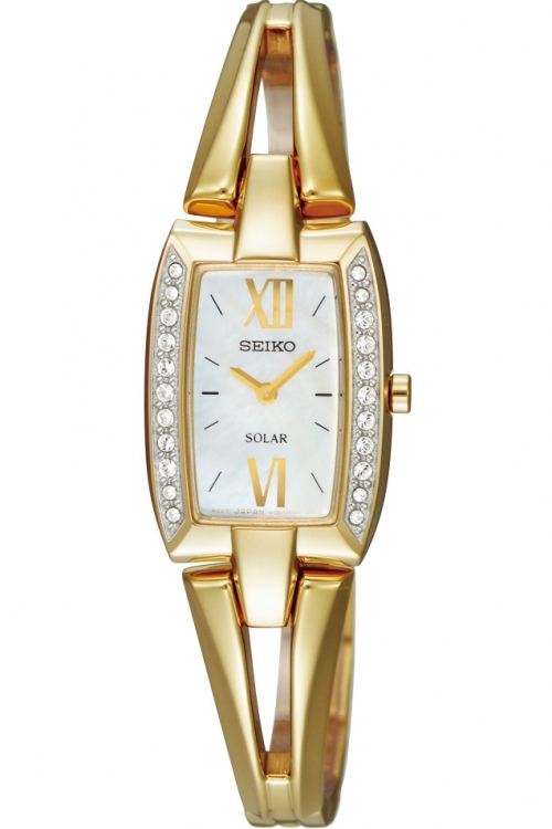 Image of  			   			  			   			  Ladies Seiko Crystal Solar Powered Watch SUP086P9