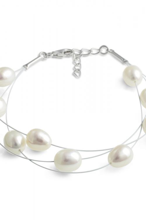Jersey Pearl Dew Drop Freshwater Pearl Bracelet JEWEL MELP-B-W