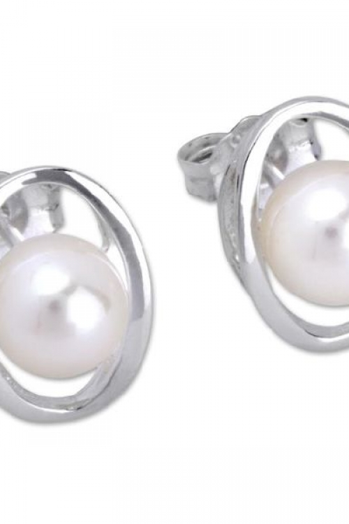 Unique & Co Earring with Freshwater Pearl JEWEL ME-210