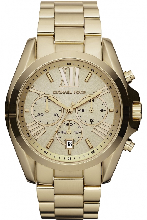 Image of  			   			  			   			  Ladies Michael Kors Bradshaw Chronograph Watch MK5605