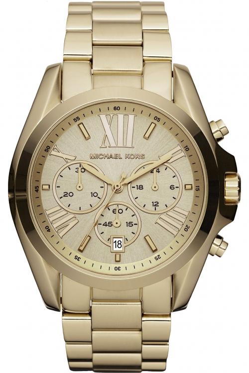 Image of            Ladies Michael Kors Bradshaw Chronograph Watch MK5605