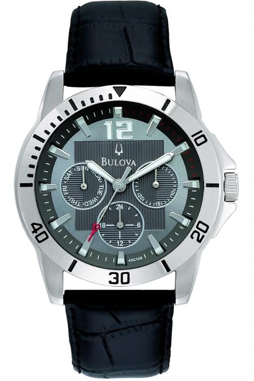 Mens Bulova Dress Multifunction Watch 96C116