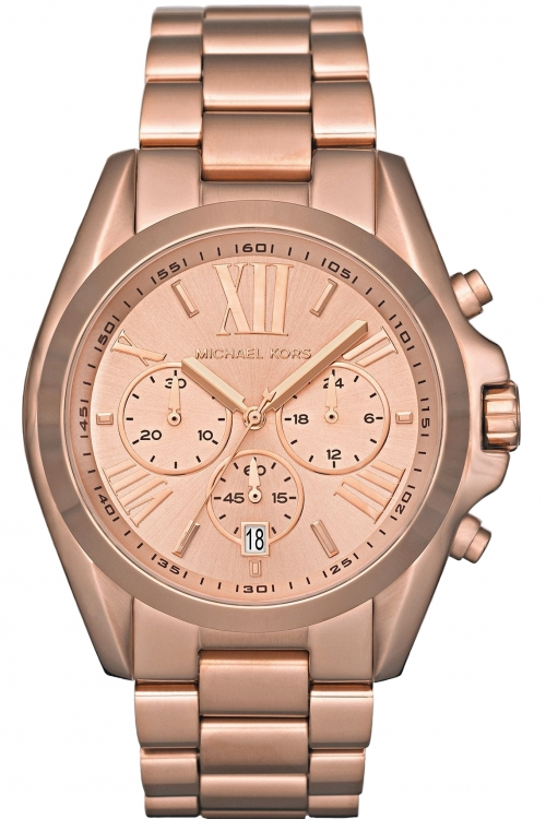 Image of  			   			  			   			  Ladies Michael Kors Bradshaw Chronograph Watch MK5503