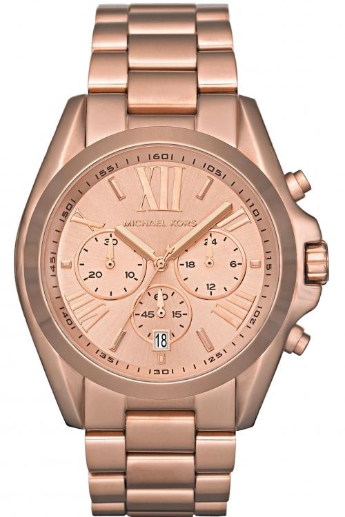 Image of            Ladies Michael Kors Bradshaw Chronograph Watch MK5503