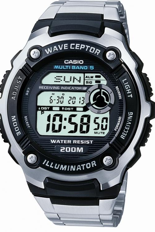 Image of            Mens Casio Waveceptor Alarm Chronograph Watch WV-200DU-1AVER