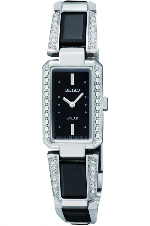 Image of  			   			  			   			  Ladies Seiko Ceramic Solar Powered Watch SUP171P9