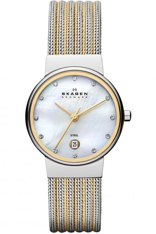 Image of            Ladies Skagen Ancher Watch 355SSGS