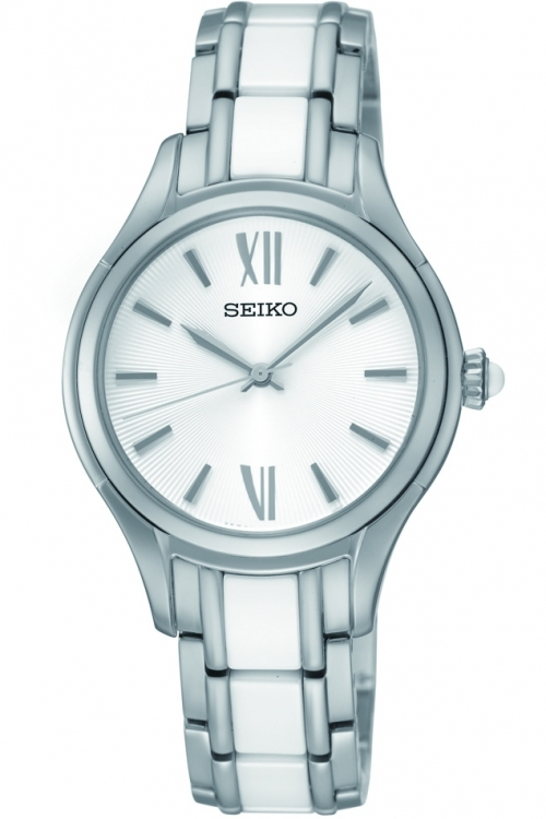Image of            Ladies Seiko Ceramic Watch SRZ395P1