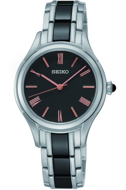 Image of            Ladies Seiko Ceramic Watch SRZ397P1