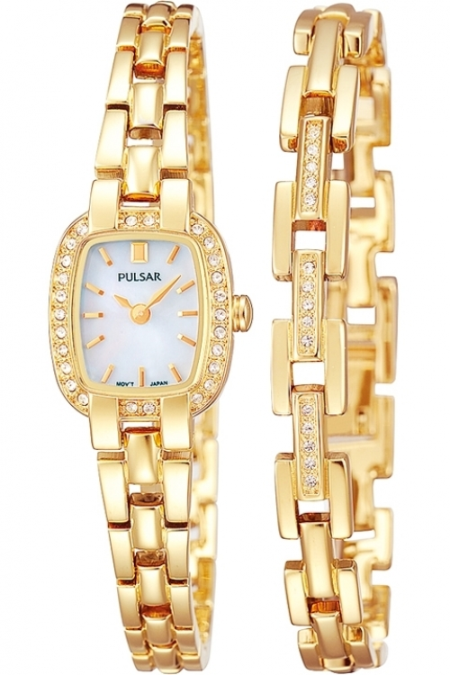 Image of  			   			  			   			  Ladies Pulsar Gift Set Watch PEGG42X2