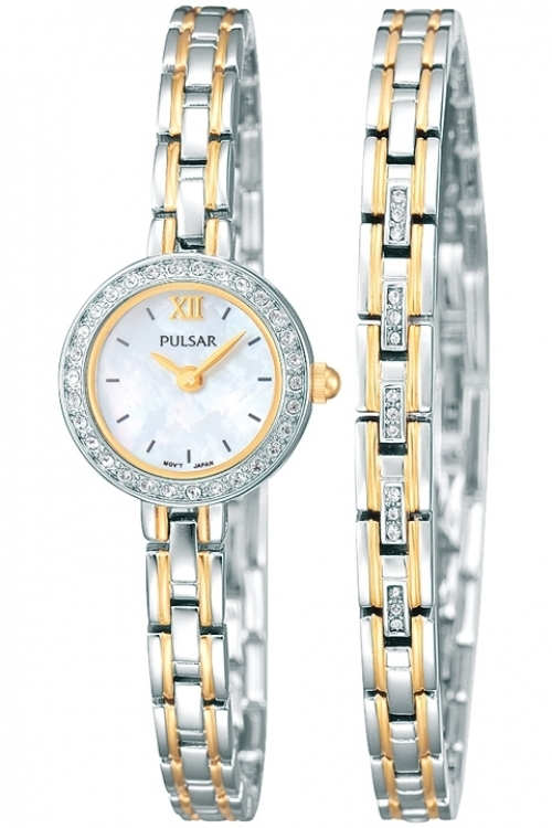 Image of  			   			  			   			  Ladies Pulsar Gift Set Watch PEGG50X2