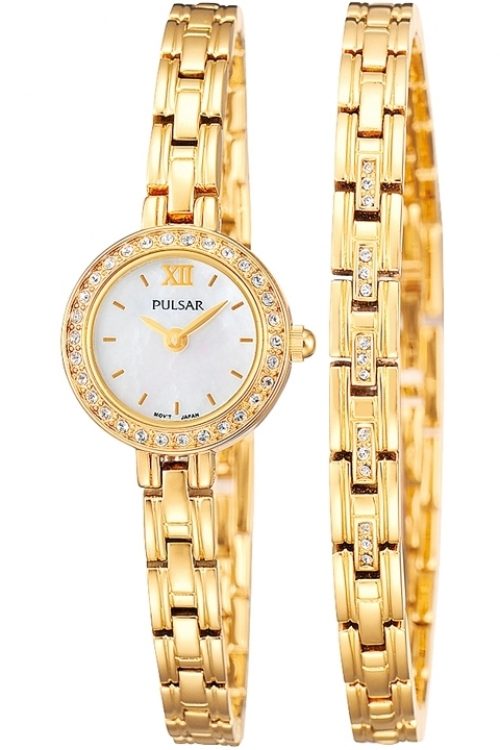 Image of  			   			  			   			  Ladies Pulsar Gift Set Watch PEGG52X2