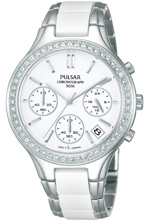 Image of  			   			  			   			  Ladies Pulsar Chronograph Watch PT3305X1