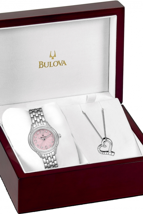 Ladies Bulova Necklace Set Watch 96X124