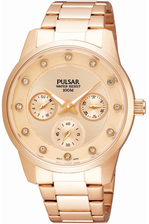 Image of  			   			  			   			  Ladies Pulsar Chronograph Watch PP6076X1