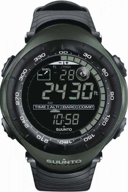 Image of Mens Suunto Vector Military Foliage Green Alarm Chronograph Watch SS010600F10