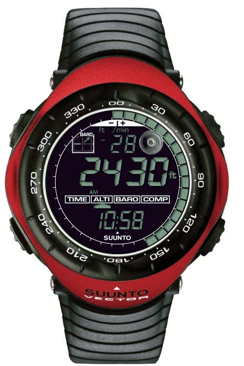 Image of            Mens Suunto Vector Red - New Alarm Chronograph Watch SS011516400