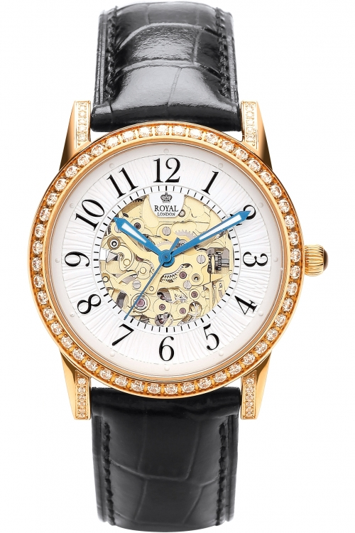 Image of            Ladies Royal London Automatic Watch 21178-01