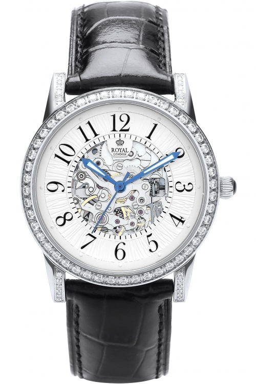 Image of            Ladies Royal London Automatic Watch 21178-02