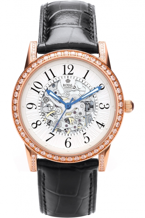 Image of            Ladies Royal London Automatic Watch 21178-03