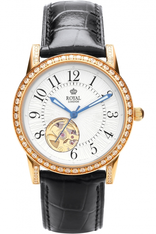 Image of            Ladies Royal London Automatic Watch 21179-01