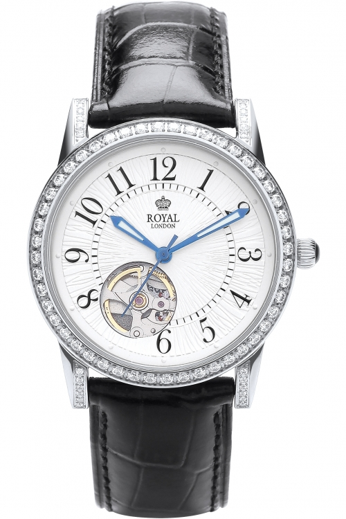 Image of            Ladies Royal London Automatic Watch 21179-02