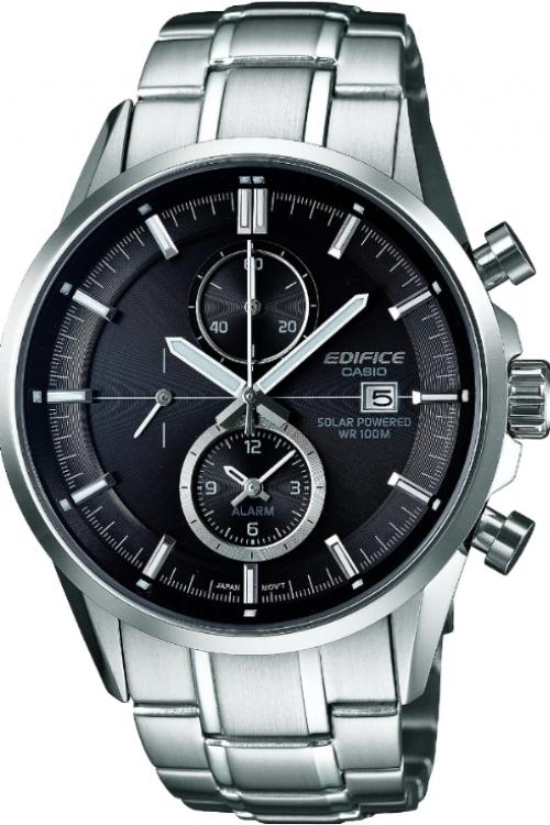 Mens Casio Edifice Chronograph Solar Powered Watch EFB-201B-1AVER