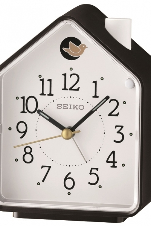 Image of            Seiko Clocks Bird Melody Bedside Alarm Clock QHP002K