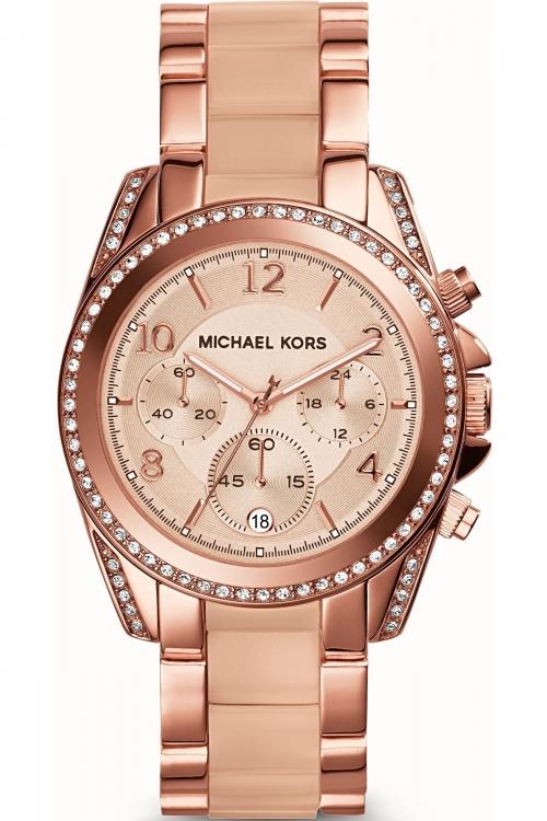 Image of            Ladies Michael Kors Blair Chronograph Watch MK5943