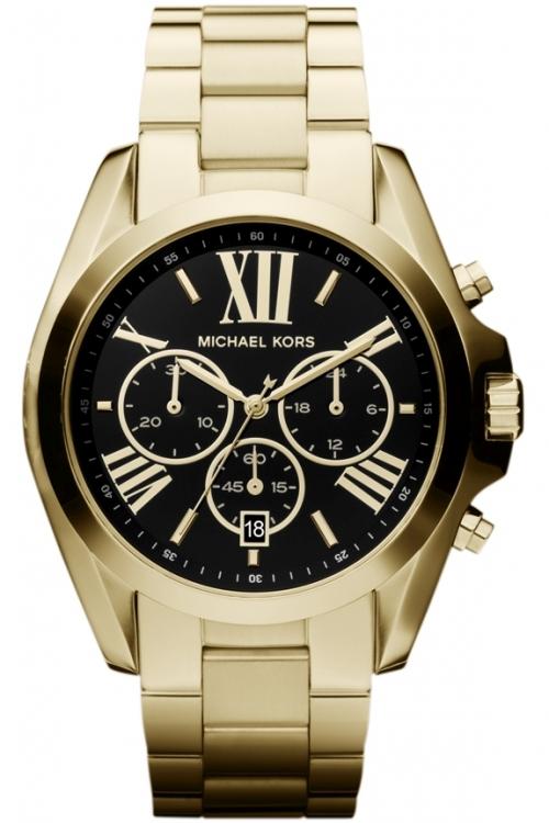Image of            Ladies Michael Kors Bradshaw Chronograph Watch MK5739