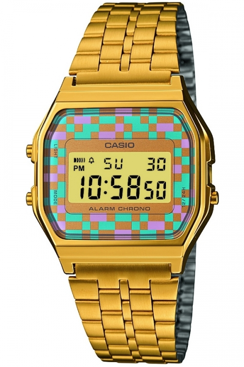 Image of            Unisex Casio Classic Alarm Chronograph Watch A159WGEA-4AEF
