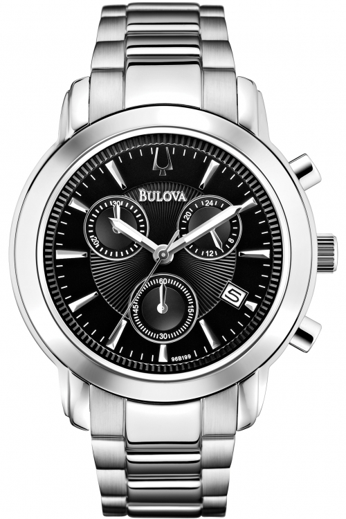 Mens Bulova Dress Chronograph Watch 96B199