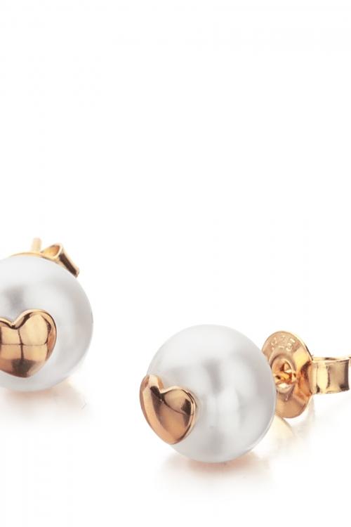 Shimla Jewellery Heart Fresh Water Pearl Earrings JEWEL SH616