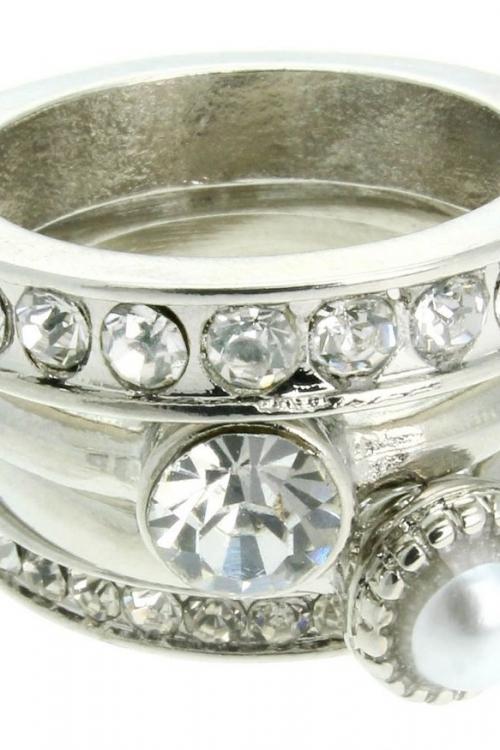 Lipsy Jewellery Ring M L JEWEL LPJ-5116