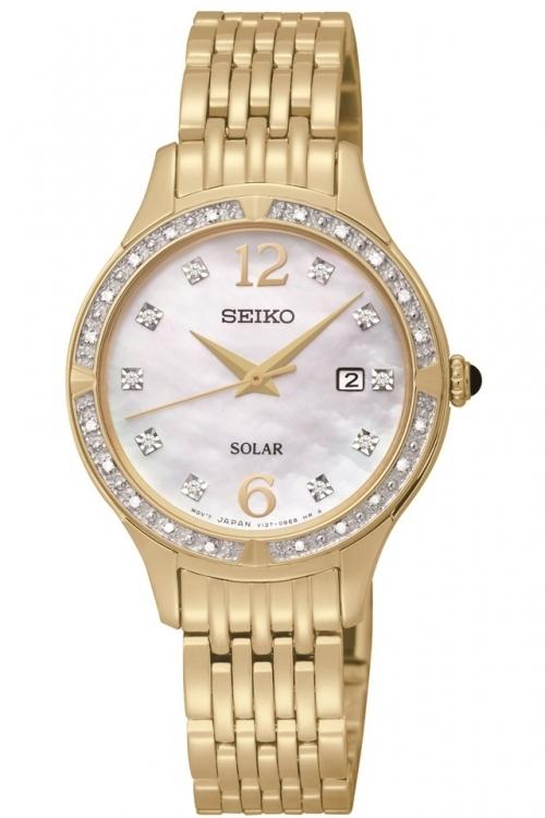 Image of            Ladies Seiko Diamond Solar Powered Watch SUT094P9