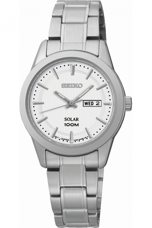Image of  			   			  			   			  Ladies Seiko Dress Solar Powered Watch SUT159P1