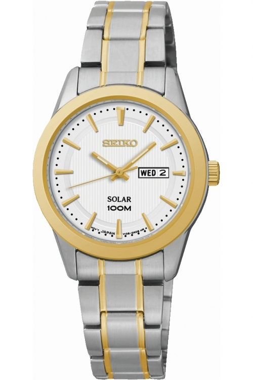 Image of  			   			  			   			  Ladies Seiko Dress Solar Powered Watch SUT162P1