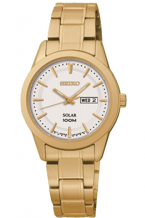 Image of  			   			  			   			  Ladies Seiko Dress Solar Powered Watch SUT164P1